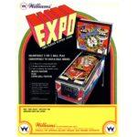 Expo Pinball Machine Flyer