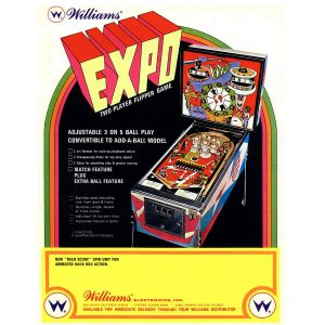 Expo Pinball Machine Flyer