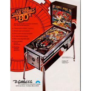 James Bond 007 Pinball Machine Flyer