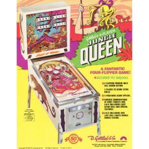 Jungle Queen Pinball Machine Flyer