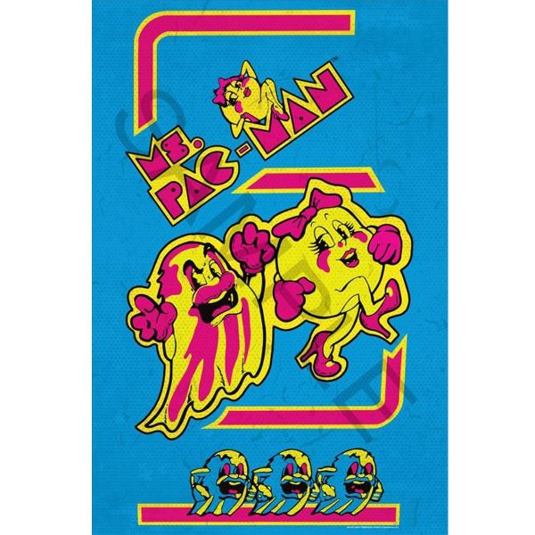 Mrs Pac-Man Poster