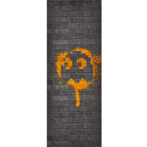 Pac-Man Orange Ghost Tapestry – Clyde