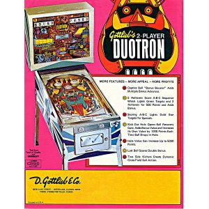 Duotron Pinball Machine Flyer