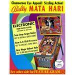 Mata Hari Pinball Machine Flyer
