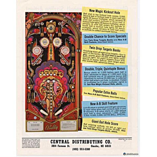 Mata Hari Pinball Machine Flyer 2