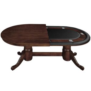 Texas Hold Em Poker Table with Dining Top - Cappuccino 1