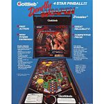 Deadly Weapon Pinball Machine Flyer