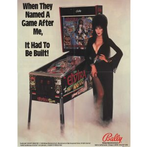 Elvira and the Party Monsters Pinball Flyer 2
