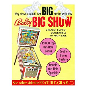 Big Show Pinball Machine 3 300x300 - Big Show Pinball Machine