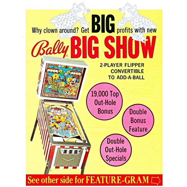 Big Show Pinball Machine 3 600x600 - Big Show Pinball Machine