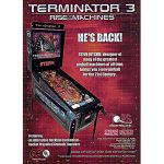 Terminator 3 Pinball Machine Flyer
