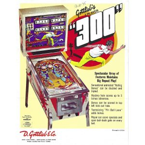 300 Pinball Machine Gottlieb Flyer