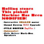 Rolling Stones Pinball Machine Modifications